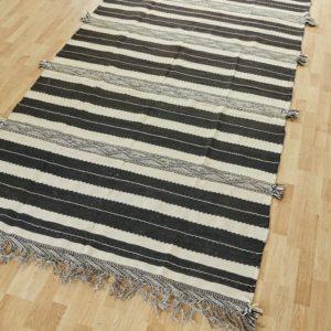 marokkanischer Teppich 'Sanafi' - schwarz-creme-3302