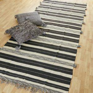 marokkanischer Teppich 'Sanafi' - schwarz-creme-3305