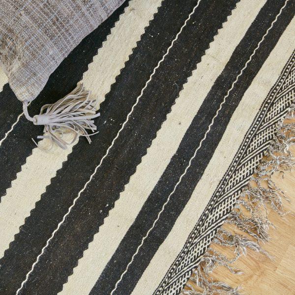 marokkanischer Teppich 'Sanafi' - schwarz-creme-0