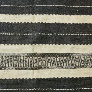 marokkanischer Teppich 'Sanafi' - schwarz-creme-3304