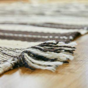 marokkanischer Teppich 'Sanafi' - schwarz-creme-3303