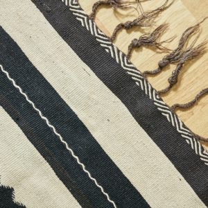 marokkanischer Teppich 'Sanafi' - schwarz mit Farbakzent-3312