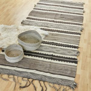 marokkanischer Teppich 'Sanafi' - grau-taupe-0
