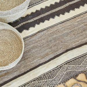 marokkanischer Teppich 'Sanafi' - grau-taupe-3280