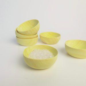 Mini Holzschälchen aus Zitronenholz-3961
