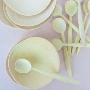 handgefertigte Holzschale aus Zitronenholz-395