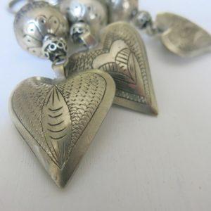 Schlüsselanhänger mit silbernem Herz-1673
