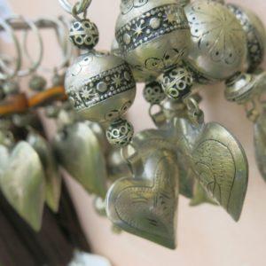 Schlüsselanhänger mit silbernem Herz-1146