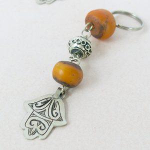 Schlüsselanhänger mit silberner 'main Fatima'-1167