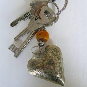 Schlüsselanhänger Silber Herz aus Maillechort Silber-1667
