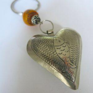 Schlüsselanhänger Silber Herz aus Maillechort Silber-1668
