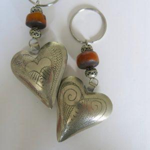 Schlüsselanhänger Silber Herz aus Maillechort Silber-1669