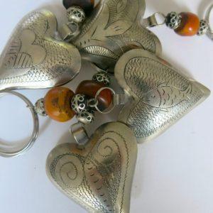 Schlüsselanhänger Silber Herz aus Maillechort Silber-1670