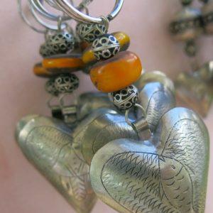 Schlüsselanhänger Silber Herz aus Maillechort Silber-1136