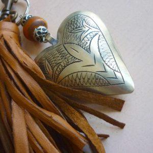 Schlüsselanhänger Silber Herz aus Maillechort Silber-1135