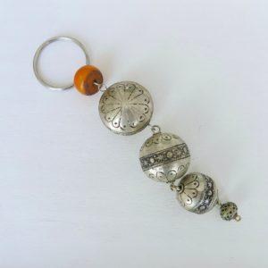 silberner Schlüsselanhänger aus Maillechort Silber-1691