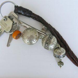 silberner Schlüsselanhänger aus Maillechort Silber-1690