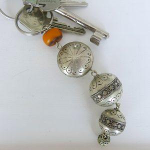 silberner Schlüsselanhänger aus Maillechort Silber-1694
