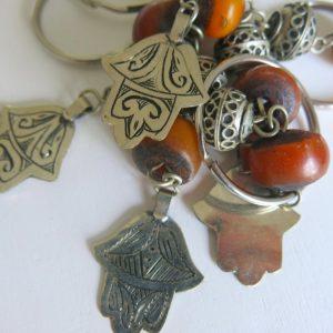 Schlüsselanhänger mit silberner 'main Fatima'-1681