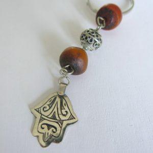 Schlüsselanhänger mit silberner 'main Fatima'-1682