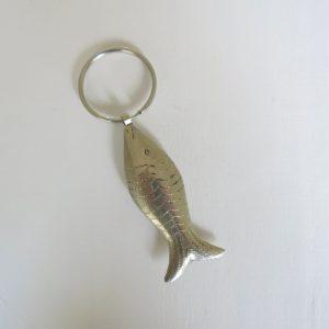 Schlüsselanhänger Silber-Fisch aus 'maillechort Silber'-1658
