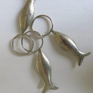 Schlüsselanhänger Silber-Fisch aus 'maillechort Silber'-1660