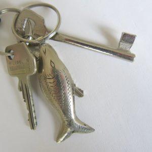 Schlüsselanhänger Silber-Fisch aus 'maillechort Silber'-1659