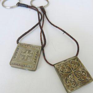 Schlüsselanhänger mit dekorativer Gravur-1699