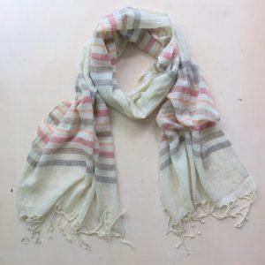 Schal aus feiner Baumwolle in Pastelltönen-3608