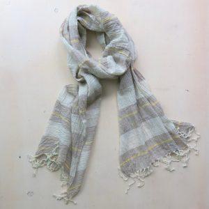 Schal aus feiner Baumwolle in Pastelltönen-3609