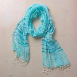 Schal aus feiner Baumwolle - gestreift-3592