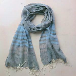 Schal aus feiner Baumwolle - gestreift-3593