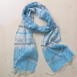 Schal aus feiner Baumwolle - gestreift-3594