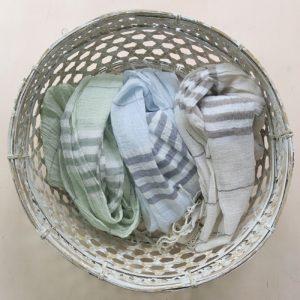 Schal feine Baumwolle mit Streifen-0