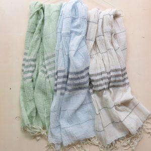 Schal feine Baumwolle mit Streifen-3581