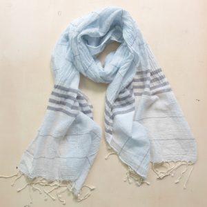 Schal feine Baumwolle mit Streifen-3582