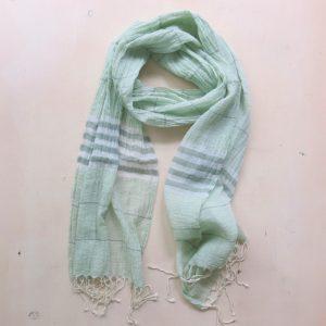 Schal feine Baumwolle mit Streifen-3583