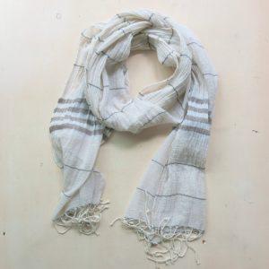 Schal feine Baumwolle mit Streifen-3584