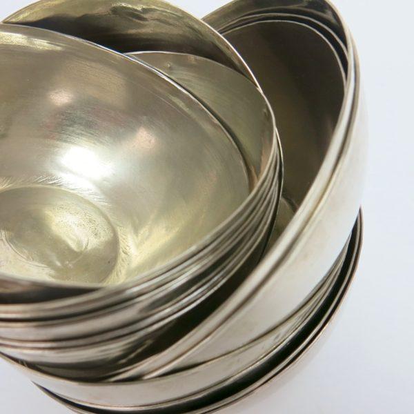 schlichte silberne Hamamschale vintage-0