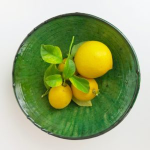 grüne Keramik Servierschale - Marokko-3455