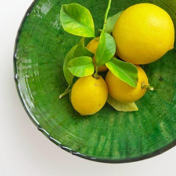 grüne Keramik Servierschale - Marokko-0