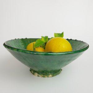grüne Keramik Servierschale - Marokko-3457