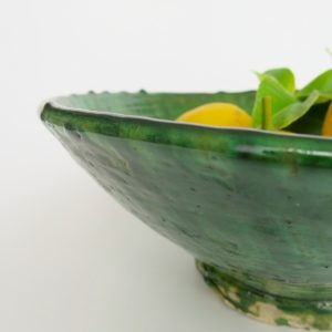 grüne Keramik Servierschale - Marokko-3458