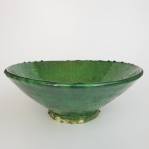 grüne Keramik Servierschale - Marokko-3459
