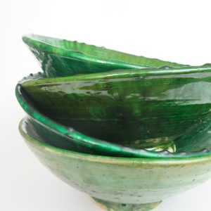 grüne Keramik Servierschale - Marokko-3461