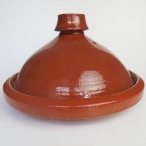 Tajine aus Ton - abgerundeter Deckel-4209