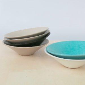 Schälchen Keramik - flach-2148