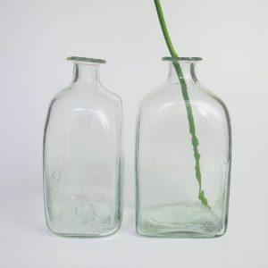 mundgeblasene Glasvase transparent-4182