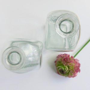 mundgeblasene Glasvase transparent-4181