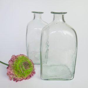mundgeblasene Glasvase transparent-4183